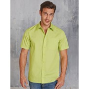 Ace - Men's Short Sleeve Easy Care Polycotton Poplin Shirt