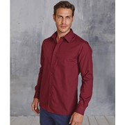 Jofrey - Men's Long Sleeve Easy Care Polycotton Poplin Shirt