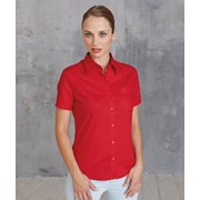 Ladies' Short Sleeve Easy Care Cotton Poplin Shirt