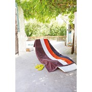 Velour Striped Beach Towel