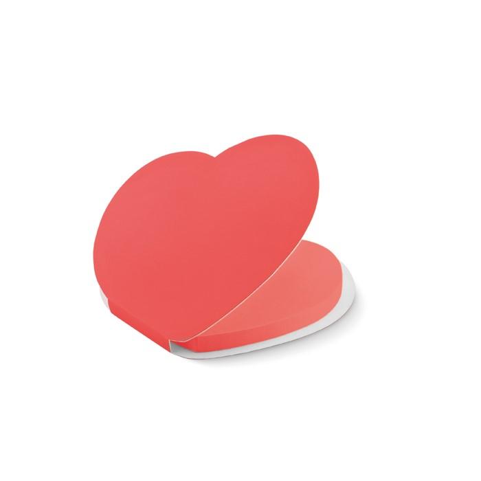 heart shape sticky notes