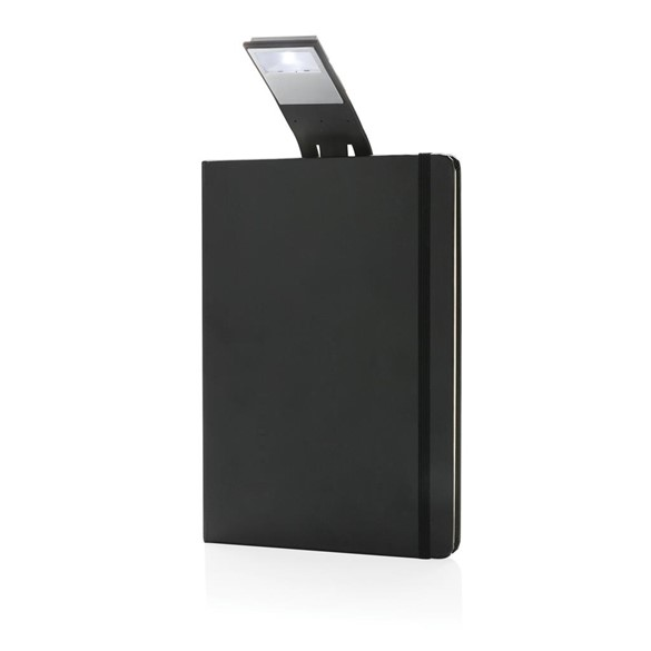 A5 Notebook & LED bookmark, black