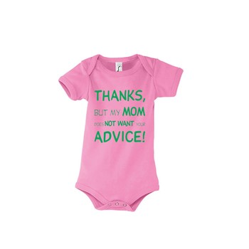 Babys bodysuit Thanks for the advice