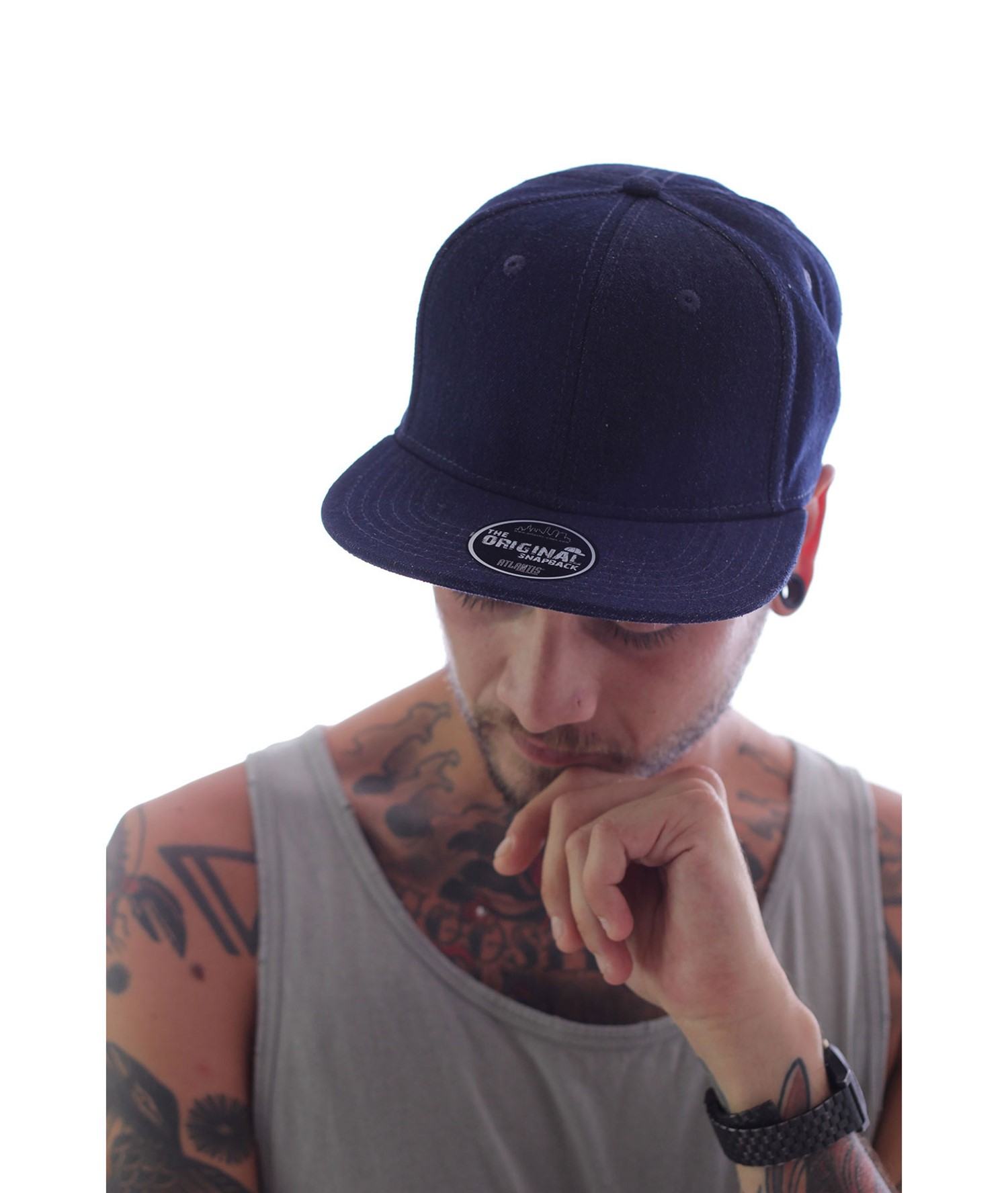 CAP SNAP DENIM