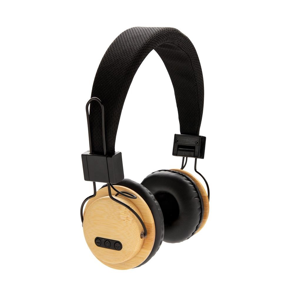 CASQUE AUDIO SANS FIL EN BAMBOU, MARRON
