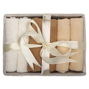 COFFRET - 6 hand towels in basket