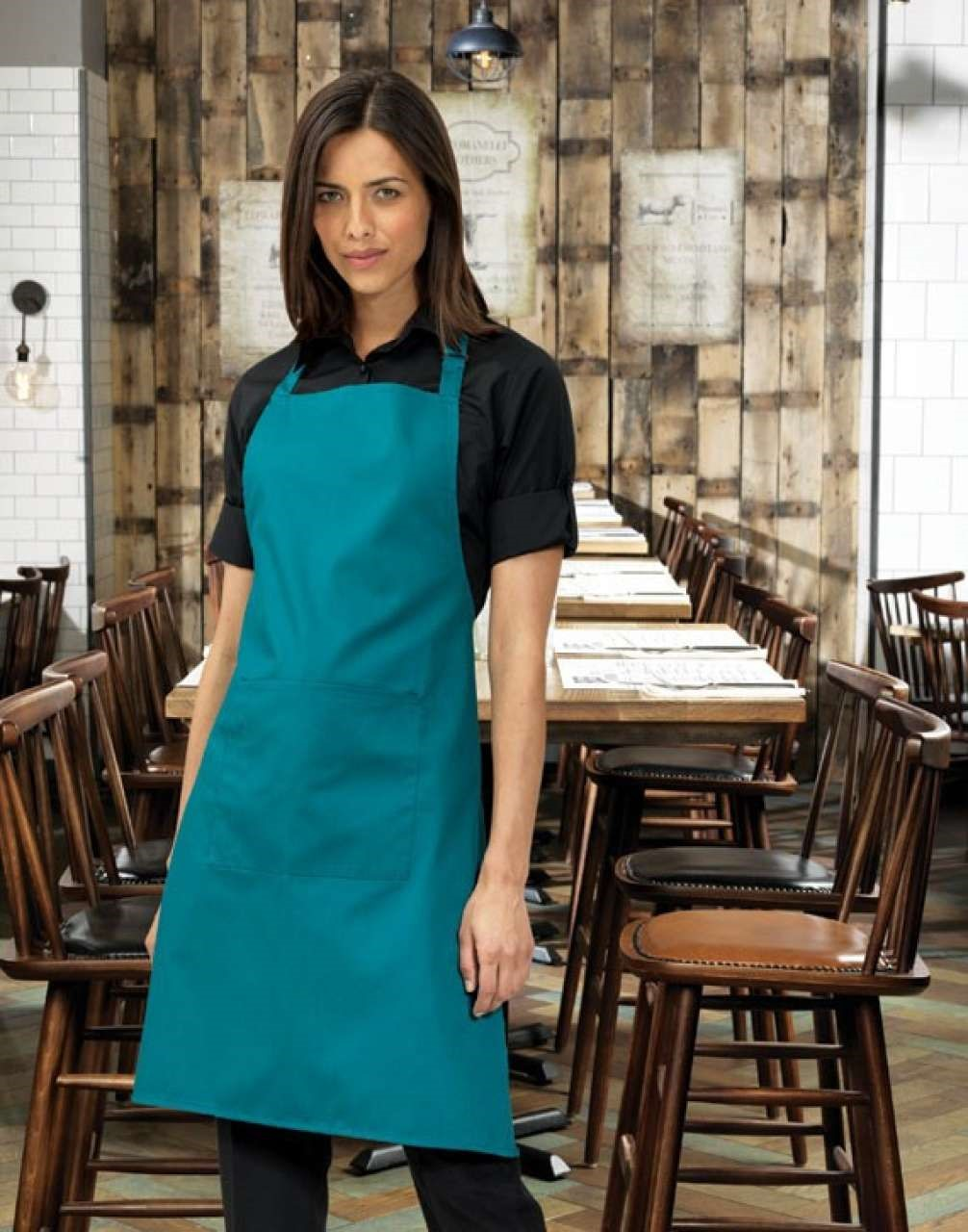 'COLOURS' BIB APRON WITH POCKET