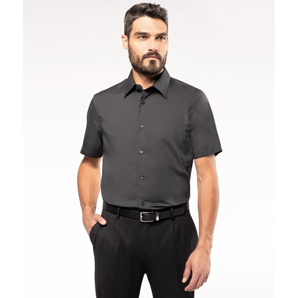 COTTON/ELASTANE SHORT-SLEEVED SHIRT