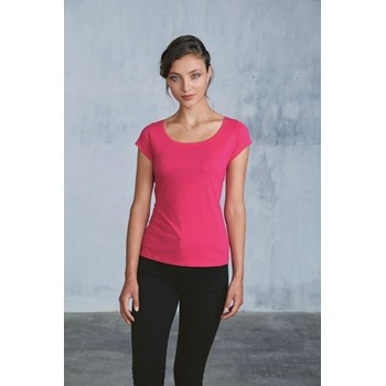 DAMEN-Boat Neck KURZARM T-SHIRT