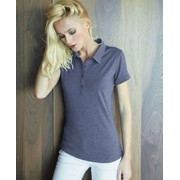 Damen Kurze Ärmel Blend Polo Shirt