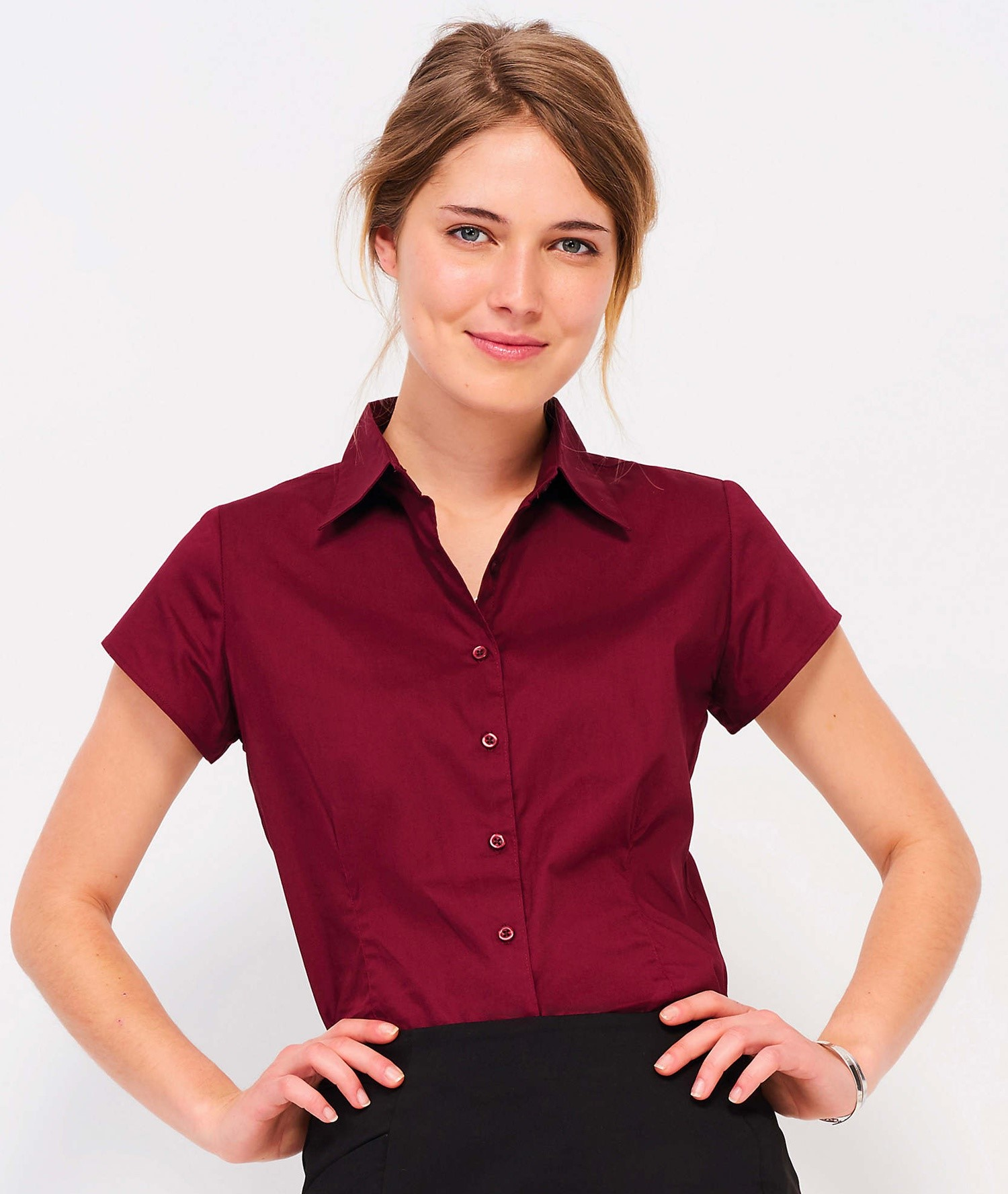 EXCESS SHORT SLEEVE STRETCH WOMEN'S SHIRT