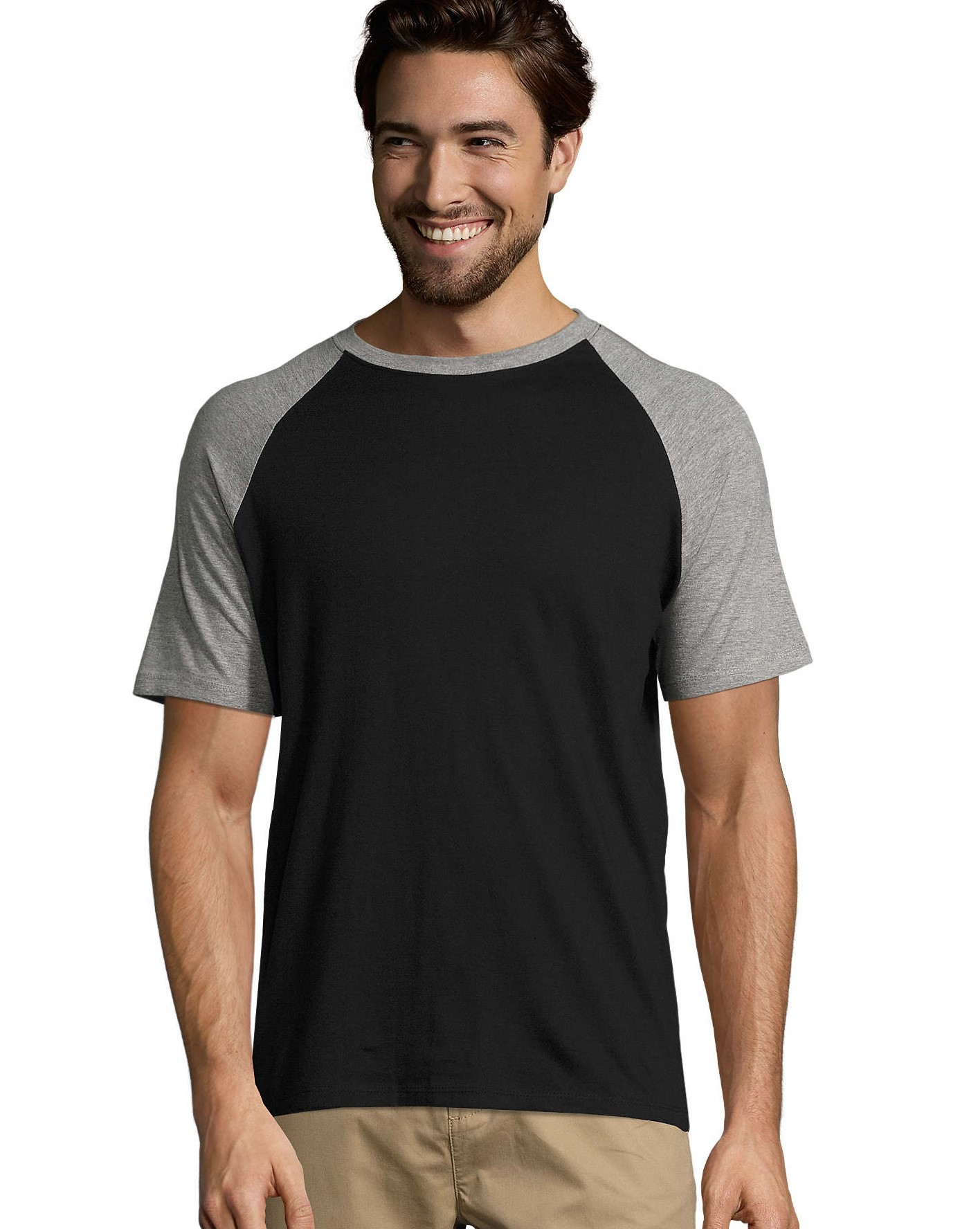 FUNKY MEN'S 2-COLOUR RAGLAN SLEEVES T-SHIRT