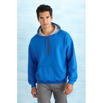 GILDAN HEAVY BLEND ADULT CONTRAST HOODED SWEATSHIRT