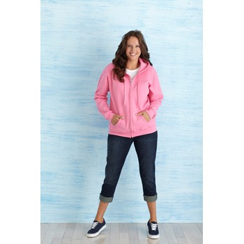 GILDAN HEAVY BLEND LADIES FULL ZIP HOODED SWEATSHIRT