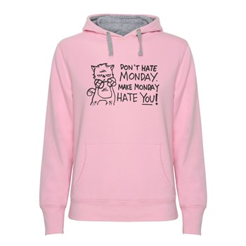 Hoodie women's Don't hate monday