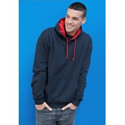 KARIBAN CONTRAST HOODED SWEATSHIRT
