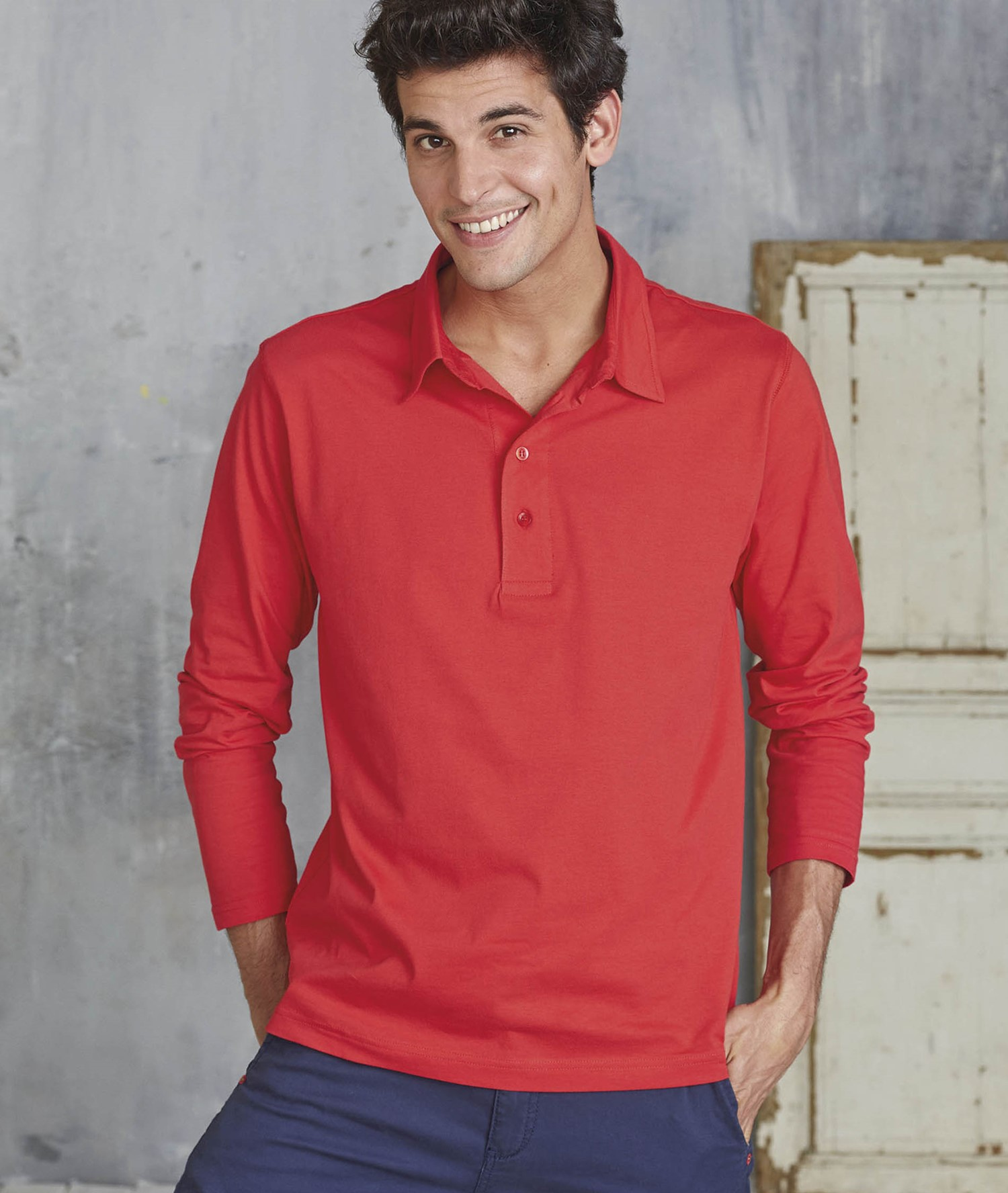 KARIBAN JERSEY POLO LONG SLEEVE