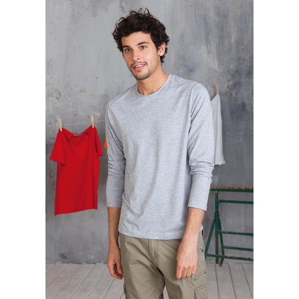 KARIBAN MENS LONG SLEEVE ROUND NECK T-SHIRT