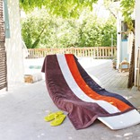 KARIBAN VELOUR STRIPED BEACH TOWEL
