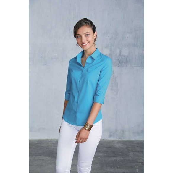 LADIES' 3/4 SLEEVED SHIRT