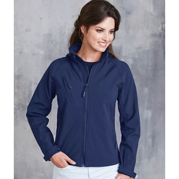 LADIES' HOODED SOFTSHELL JACKET