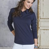 LADIES' LONG-SLEEVED JERSEY POLO SHIRT