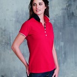LADIES' SHORT-SLEEVED PIQUÉ KNIT POLO SHIRT