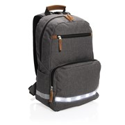 "LED light 13"" laptop backpack, grey"