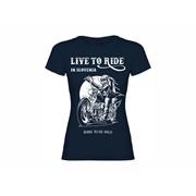 Majica ženska Live to Ride SLO