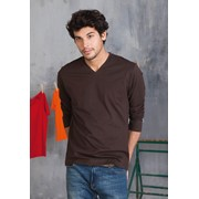 MEN'S LONG SLEEVE V-NECK T-SHIRT
