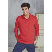 MEN'S LONG SLEEVE JERSEY POLO SHIRT