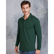 Men's Long Sleeve Pique Polo Shirt
