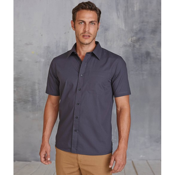 MEN'S SHORT-SLEEVED COTTON POPLIN SHIRT