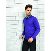MENS V-NECK KNITTED SWEATER