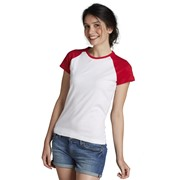 Milky Women's 2-Color Raglan Sleeves T-Shirt