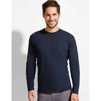 MONARCH MEN'S ROUND COLLAR LONG SLEEVE T-SHIRT