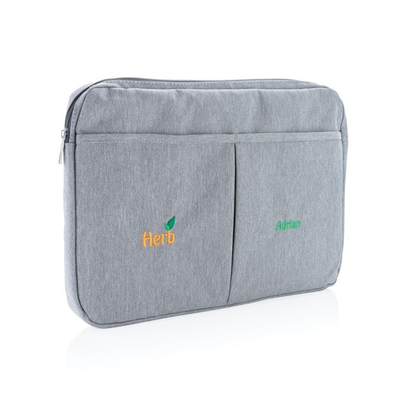 "Printed sample Laptop sleeve 15"" PVC free, anthracite"