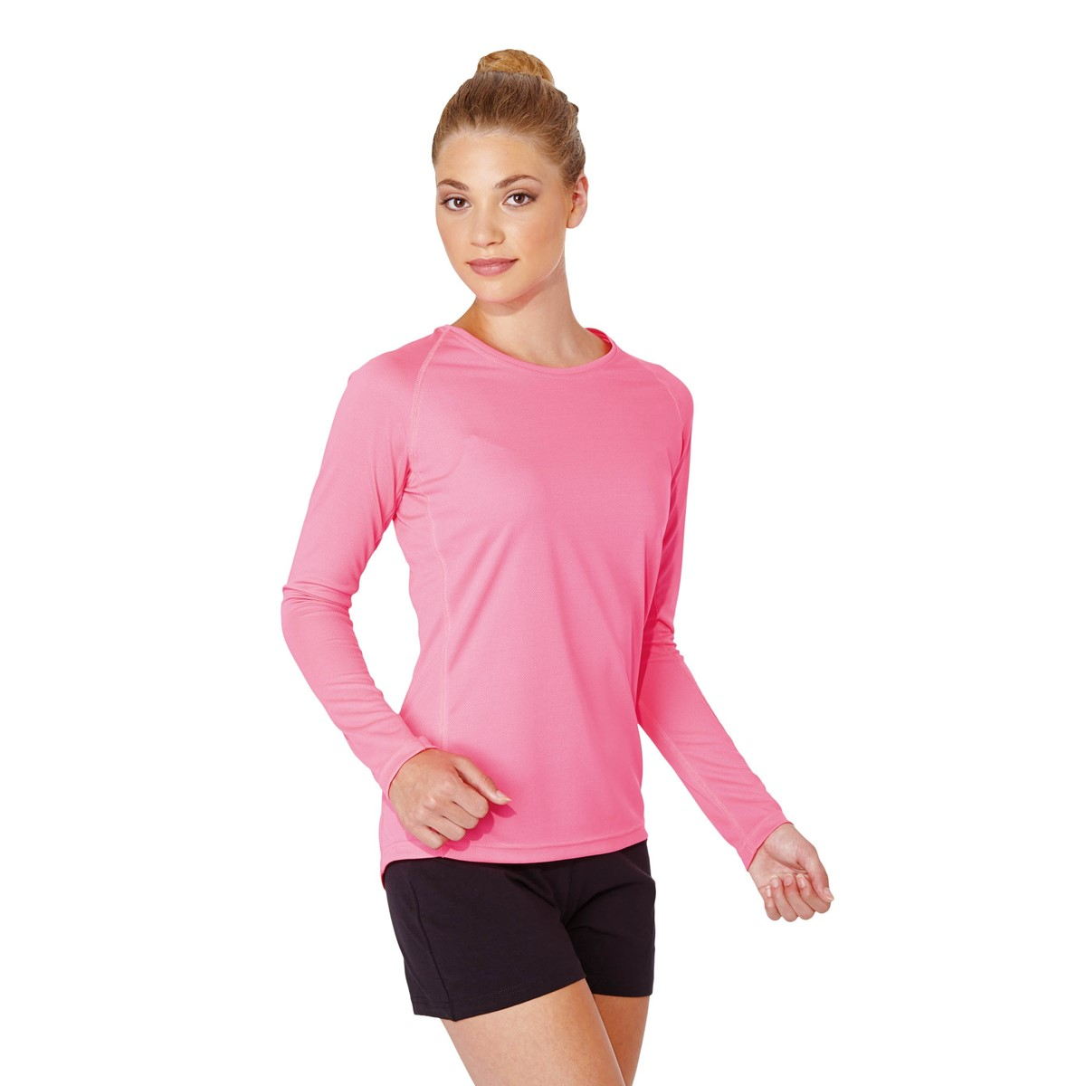 Long sleeve blouses and button-front tops are usually more formal while long sleeve graphic t-shirts and hoodies are more casual. Depending on the style and color, cardigans, sweatshirts, and pullovers can be dressed up or down.