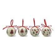 Quadrille - Coffret De 4 Boules De Noël