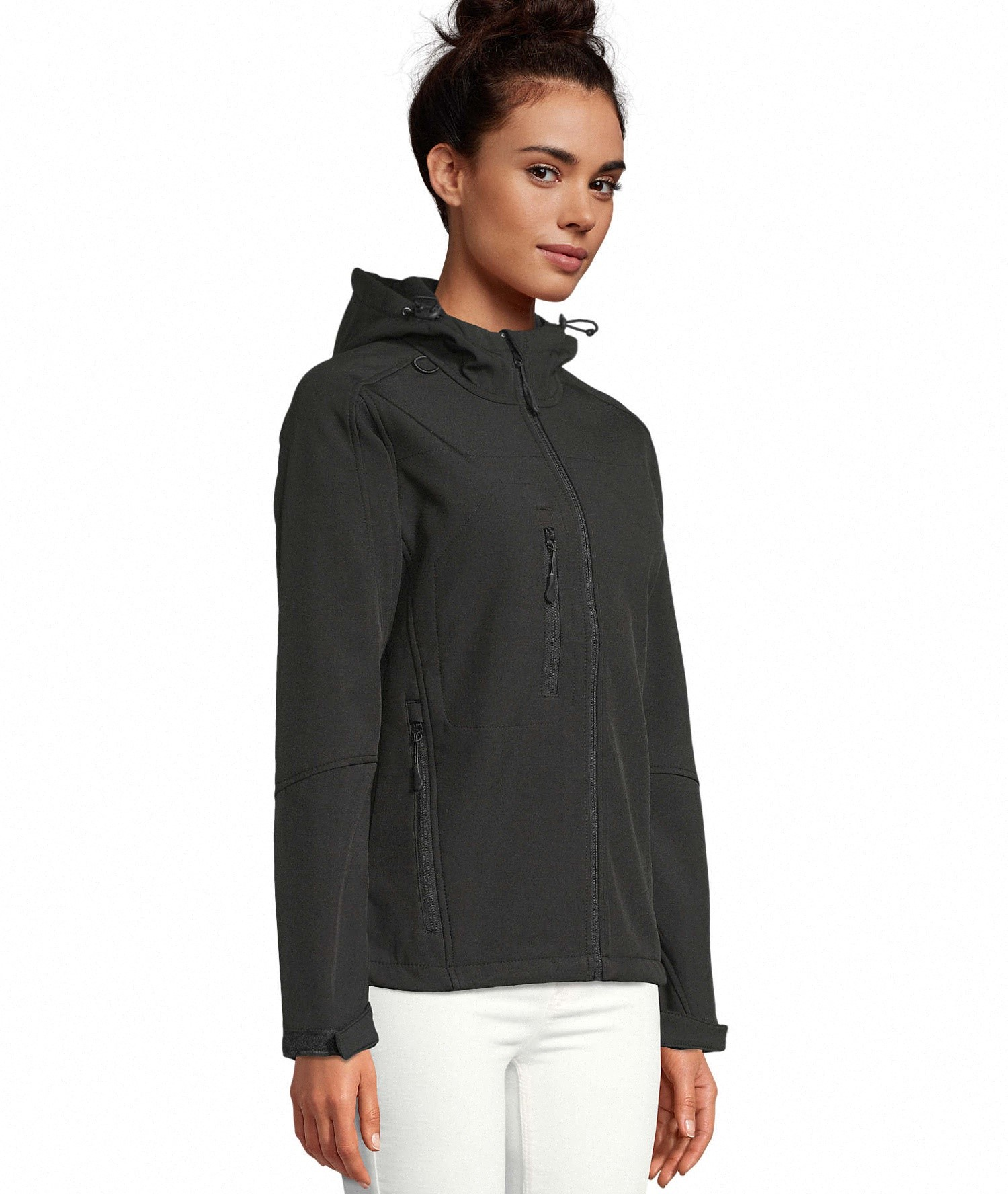 REPLAY WOMEN - HOODED SOFTSHELL