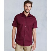 Short-Sleeved Cotton/Elastane Shirt