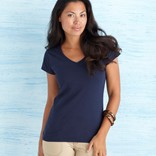 SOFTSTYLE® LADIES' V-NECK T-SHIRT