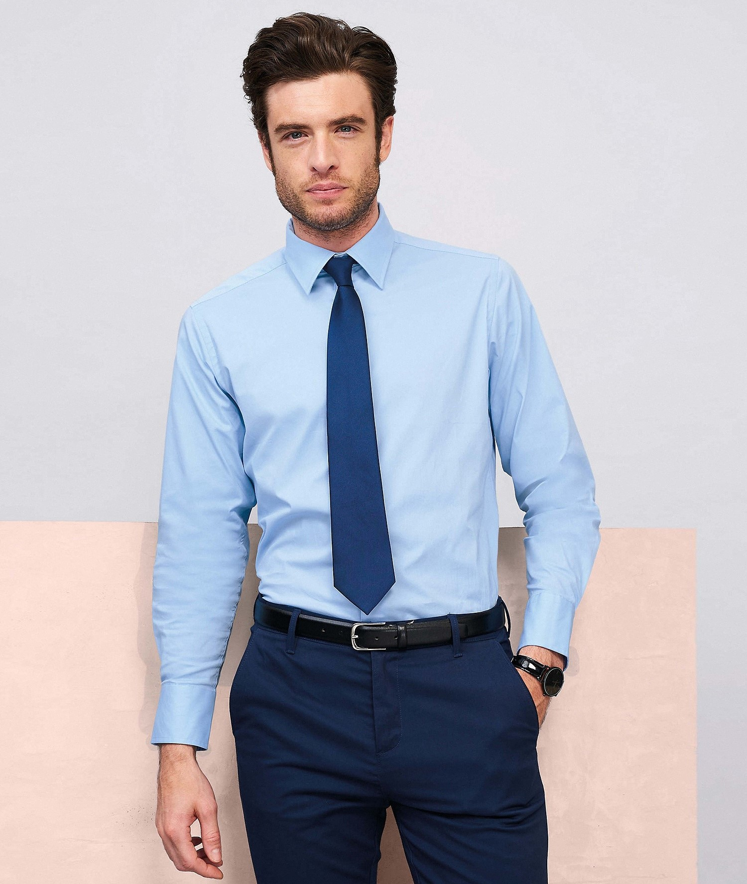 SOLS BRIGHTON LONG SLEEVES STRETCH MEN SHIRT5