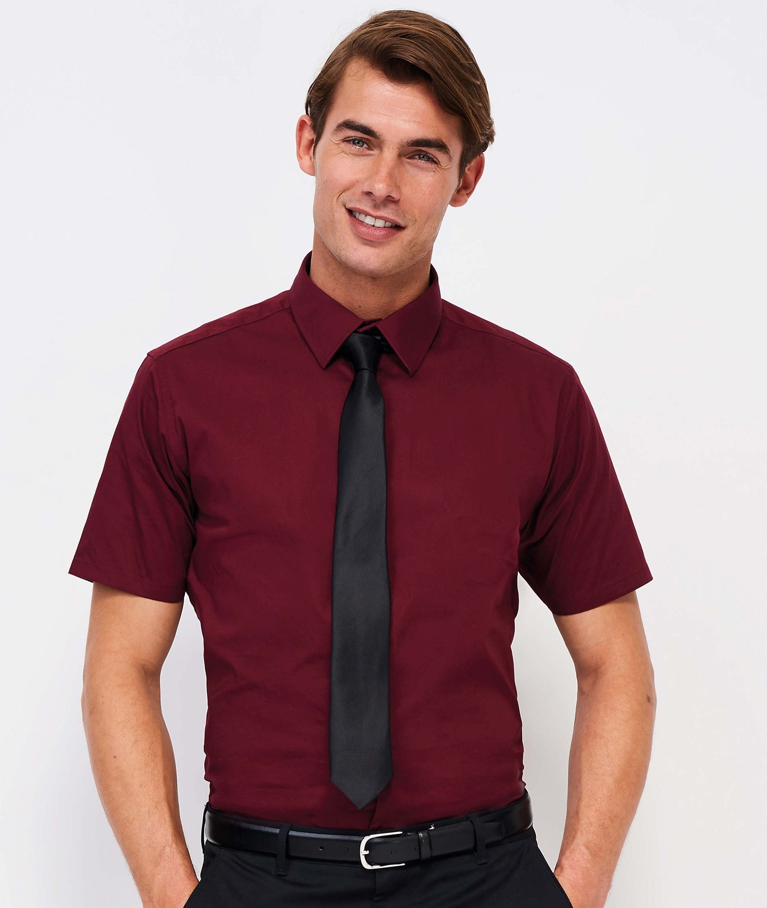 SOLS BROADWAY SHORT SLEEVE STRETCH MEN SHIRT