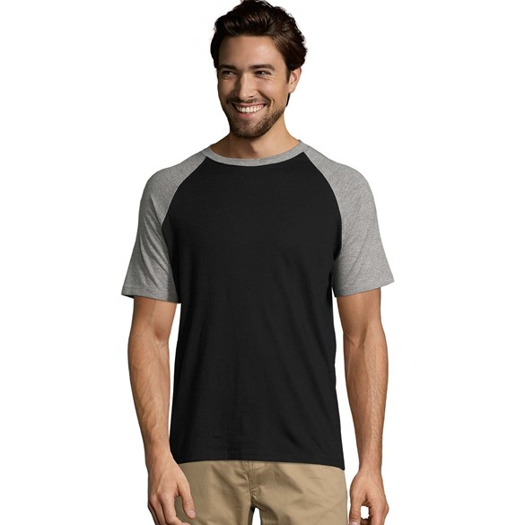 SOLS FUNKY MEN 2-COLOUR RAGLAN SLEEVES T MAJICA