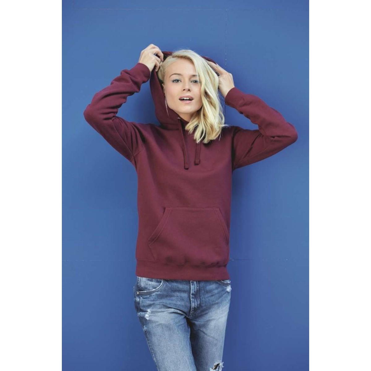 Sweat-shirt capuche femme KARIBAN 91a6fe11b89