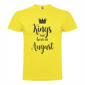 T shirt Kings born August