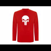 T shirt LS Angry Skull