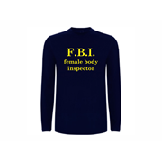 T shirt LS FBI