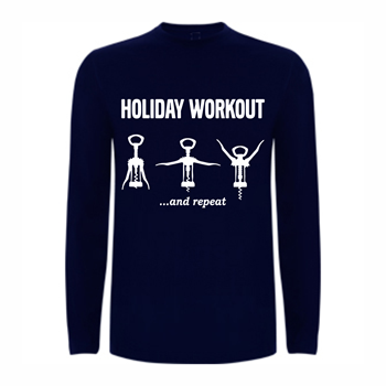 T shirt LS Holiday Workout